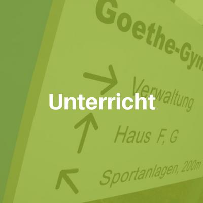 Unterricht am Goethe Gymnasium