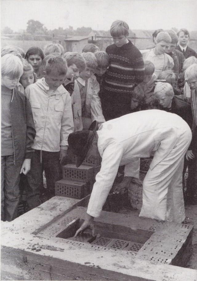 Grundsteinlegung am 26.06.1969
